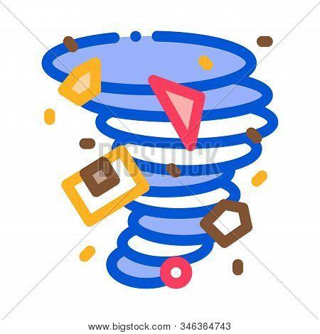 Tornado Details Icon Vector. Outline Tornado Details Sign. Isolated Contour Symbol Illustration