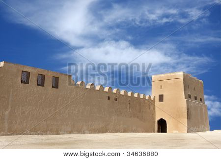 The entrance of Riffa Fort in the corner of North Eastern wall