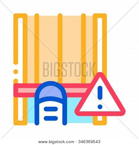 Busy Track Icon Vector. Outline Busy Track Sign. Isolated Contour Symbol Illustration