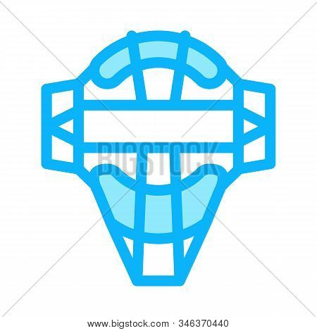 Protection Mask Icon Vector. Outline Protection Mask Sign. Isolated Contour Symbol Illustration