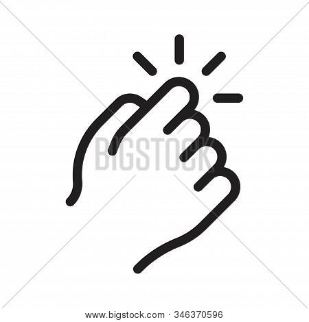 Knocking On Door Icon. Hand That Knocks On The Door. Vector Illustration