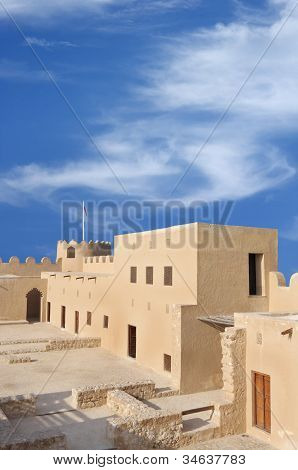 Western part of Riffa Fort Bahrain inside view from II level