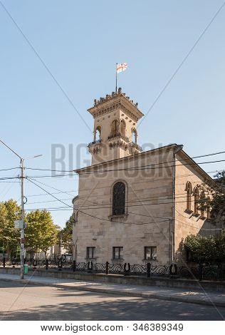 Gori, Georgia, October 13, 2019 : Street View Of The Building Of The Stalin Museum In Gori In Georgi