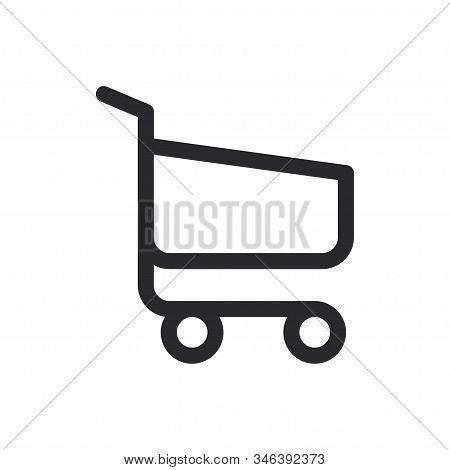 Shopping Cart Icon Isolated On White Background. Shopping Cart Icon In Trendy Design Style For Web S