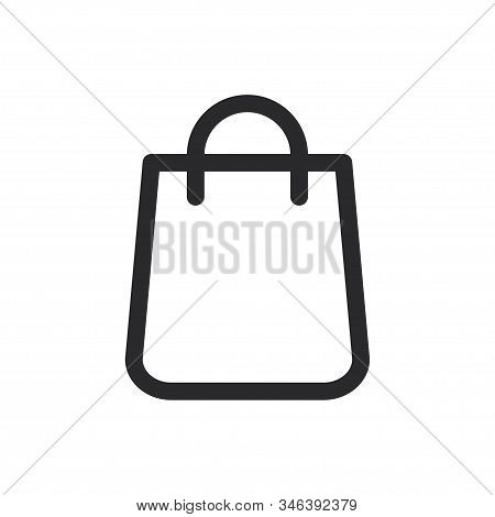 Shopping Bag Icon Isolated On White Background. Shopping Bag Icon In Trendy Design Style For Web Sit
