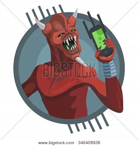 Alien Red Three Horns Calls To Your Mobile Phone Make A Screensaver On Your Phone That Calls You For
