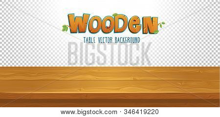 Empty Wooden Table With Transparent Background