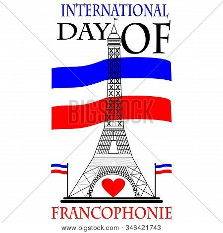 Typography Design For International Day Of The Francophonie With Logo Icon Design, Vector Illustrati