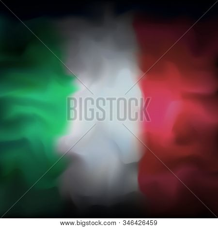Italy Abstract Flag Background For Creative Design. Graphic Abstract Dark Background. Italian Flag C