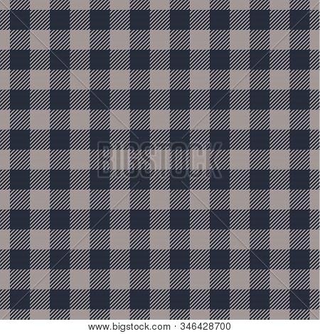 Faded Denim And Navy Blazer Tartan  Plaid  Seamless Pattern. Flannel  Shirt Tartan Patterns. Trendy