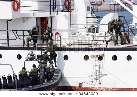 Marines Entering a ship