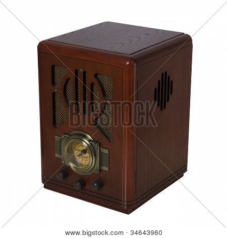 Radio Vintage Isometric View