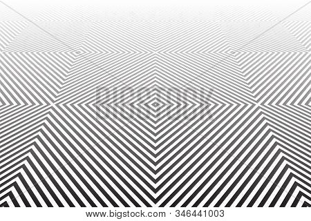 Abstract Geometric Pattern. Diminishing Perspective. Textured Background. Vector Art.