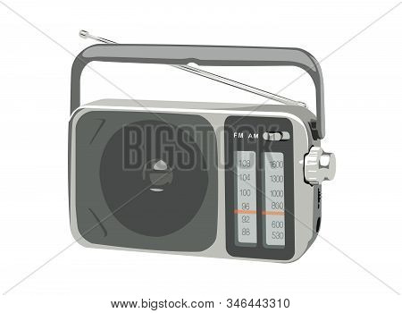 Vector Illustration Portable Am Fm Radio No Background