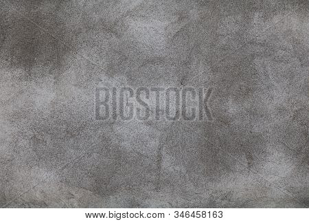 Abstract Grunge Grey Stucco Wall Background. Exposed Plaster Surface Texture Close Up. Tough Backgro