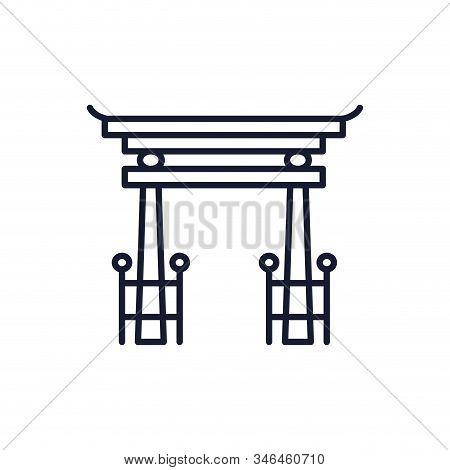 Shinto Tori Gate Symbol Design, Religion Culture Belief Religious Faith God Spiritual Meditation And