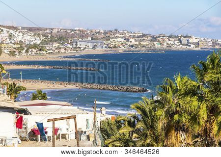 Maspalomas Beach (playa De Maspalomas) On The South Part Of Gran Canaria Island, Canary Islands, Spa