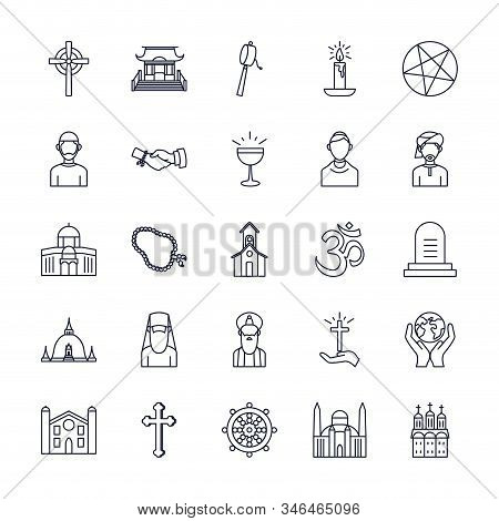 Icon Set Of World Religious World Symbols Design, Religion Culture Belief Faith God Spiritual Medita