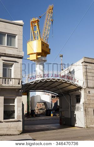 Vigo, Spain - Jan 20, 2020: Hijos De J. Barreras Shipyards On January 20, 2020 In Beiramar Street In
