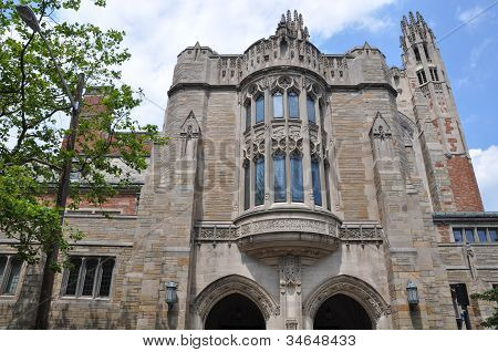 Yale University's famous Law School in New Haven, Connecticut (USA) poster