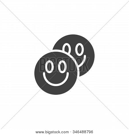LSD tablets vector icon. filled flat sign for mobile concept and web design. Ecstasy Drug pill glyph icon. Symbol, logo illustration. Vector graphics poster
