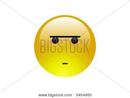 Aqua Emoticons - Frown