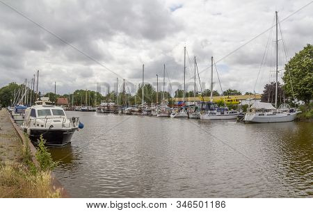 Waterside Scenery Seen At Varel, A Town In Frisia