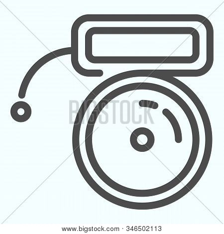 Buzzer Line Icon. Mechanical Ring Vector Illustration Isolated On White. School Bell Outline Style D