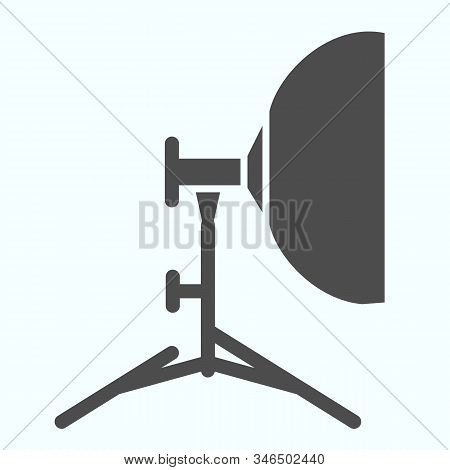 Floodlight Solid Icon. Lamp To Power Light For Photography Vector Illustration Isolated On White. Sp