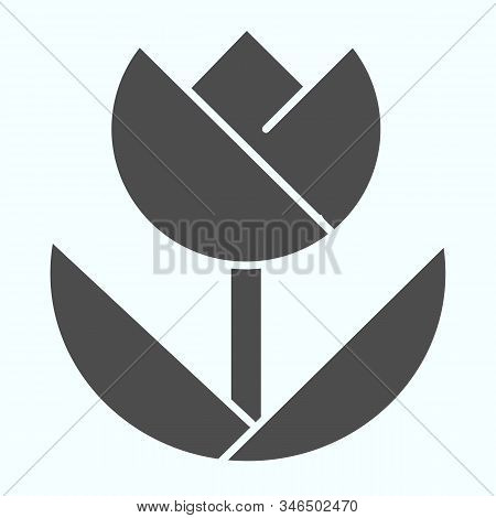 Macro Solid Icon. Macro Photography Vector Illustration Isolated On White. Flower In Macro Glyph Sty