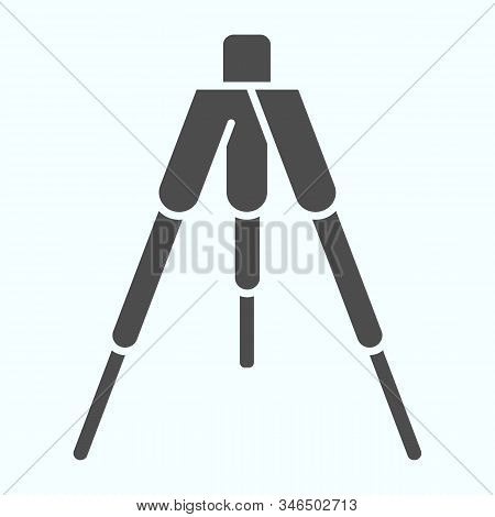 Tripod Solid Icon. Tripod Without Camera Vector Illustration Isolated On White. Camera Tripod Glyph
