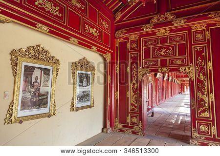 Hue, Vietnam- 2019-06-26: Temple Of Generations In The Hue Citadel. Imperial Citadel Thang Long, Vie