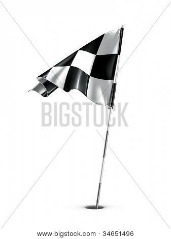Checkered golf flag, vector