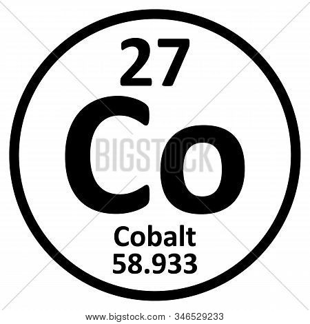 Periodic Table Element Cobalt Icon On White Background. Vector Illustration.