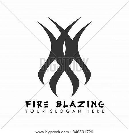 The Design Is Shaped Like A Blazing Fire