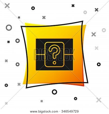Black Mystery Box Or Random Loot Box For Games Icon Isolated On White Background. Question Box. Yell