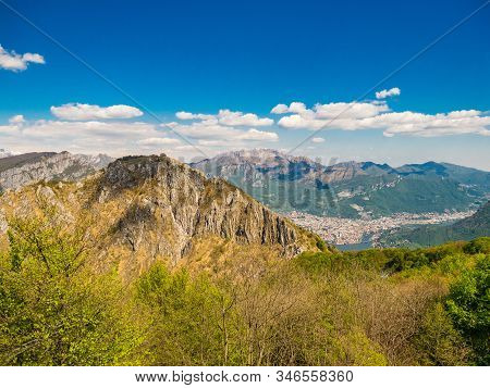 Monte Moregallo And Resegone As Viewed From Corni Di Canzo Area, Lombardy, Italy