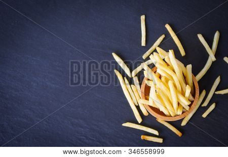 Tasty Potato Fries For Food Or Snack Delicious Italian Menu Homemade Ingredients / Fresh French Frie