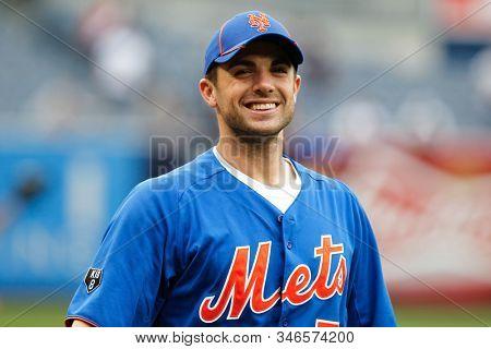 BRONX, NY - JUN 9:  New York Mets third baseman David Wright (5) smiles before the game against the New York Yankees on June 9, 2012 at Yankee Stadium.