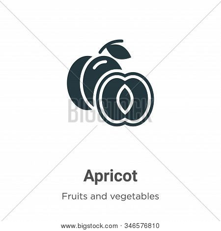Apricot icon isolated on white background from fruits and vegetables collection. Apricot icon trendy