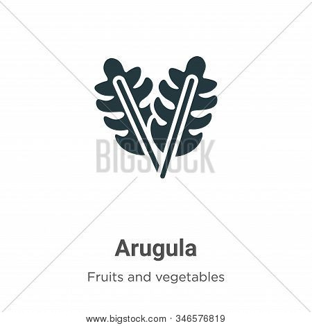 Arugula icon isolated on white background from fruits and vegetables collection. Arugula icon trendy
