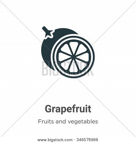 Grapefruit icon isolated on white background from fruits and vegetables collection. Grapefruit icon