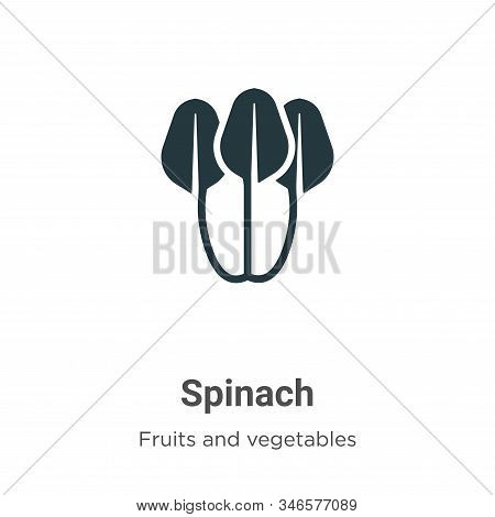 Spinach icon isolated on white background from fruits and vegetables collection. Spinach icon trendy