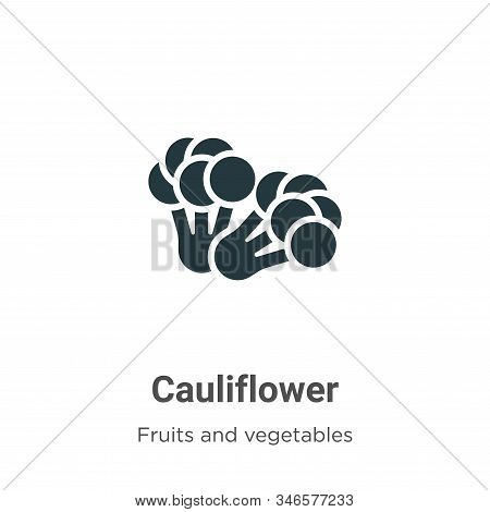 Cauliflower icon isolated on white background from fruits collection. Cauliflower icon trendy and mo