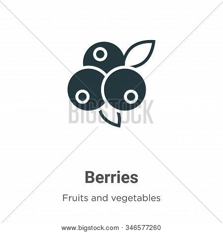 Blueberries icon isolated on white background from fruits collection. Blueberries icon trendy and mo