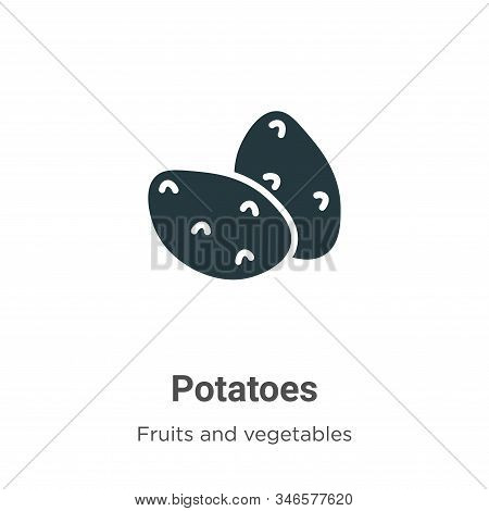 Potatoes icon isolated on white background from fruits collection. Potatoes icon trendy and modern P