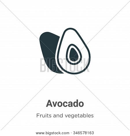 Avocado icon isolated on white background from fruits collection. Avocado icon trendy and modern Avo
