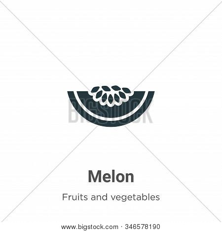 Melon icon isolated on white background from fruits collection. Melon icon trendy and modern Melon s