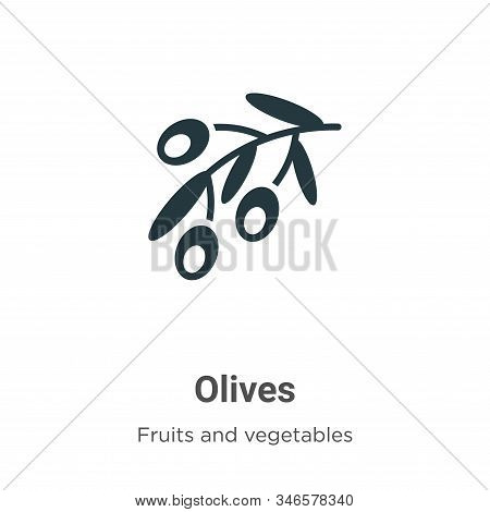 Olives icon isolated on white background from fruits collection. Olives icon trendy and modern Olive