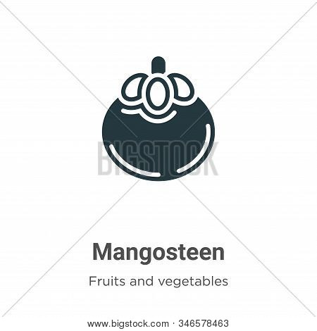 Mangosteen icon isolated on white background from fruits collection. Mangosteen icon trendy and mode